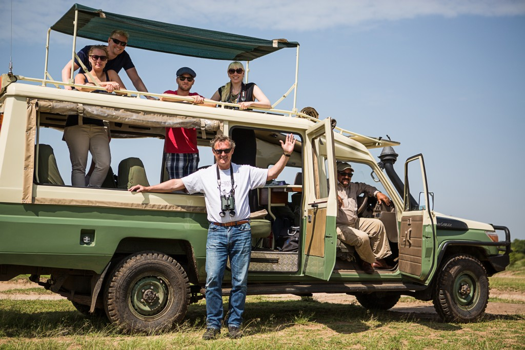 Our safari team with driver John