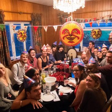 Swedish crayfish party in London